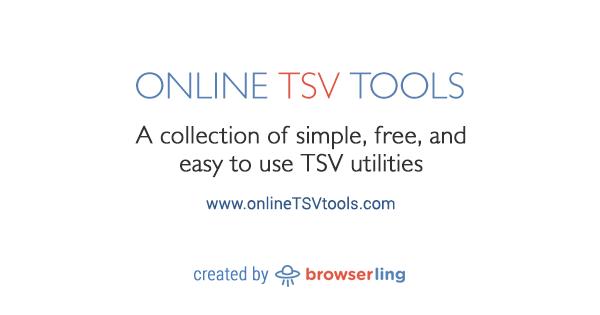 Extract a TSV Column - Online TSV Tools